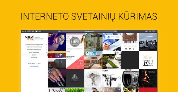 Interneto svetainių kūrimas - CreoWeb